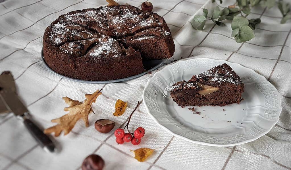 ´Schokoladen Birnen Kuchen Birnen Schoko Kuchen