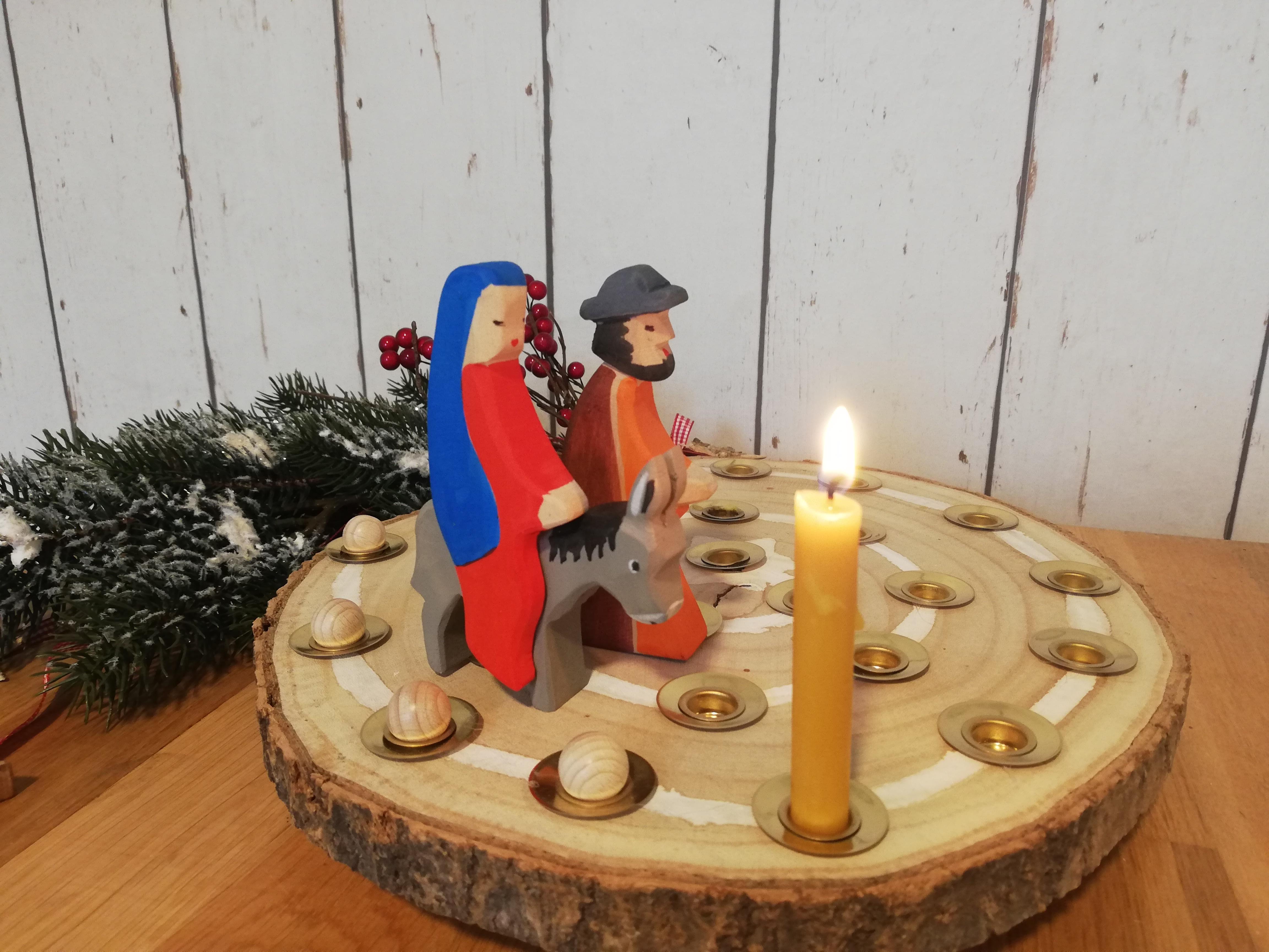 Adventsspirale aus Holz selbst machen, diy Adventsspirale, was ist eine adventsspirale